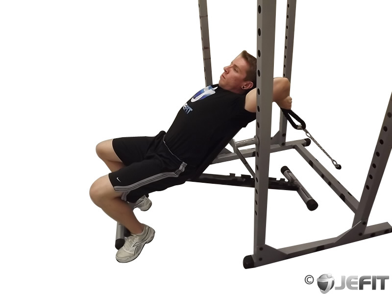 Incline Cable Rope Tricep Extension