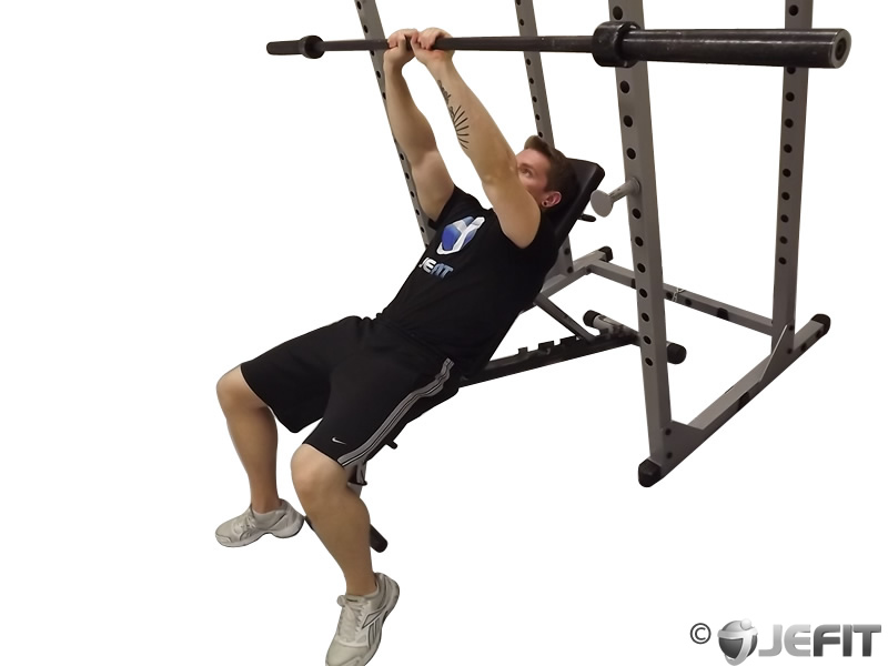 Incline Close Grip Bench Press