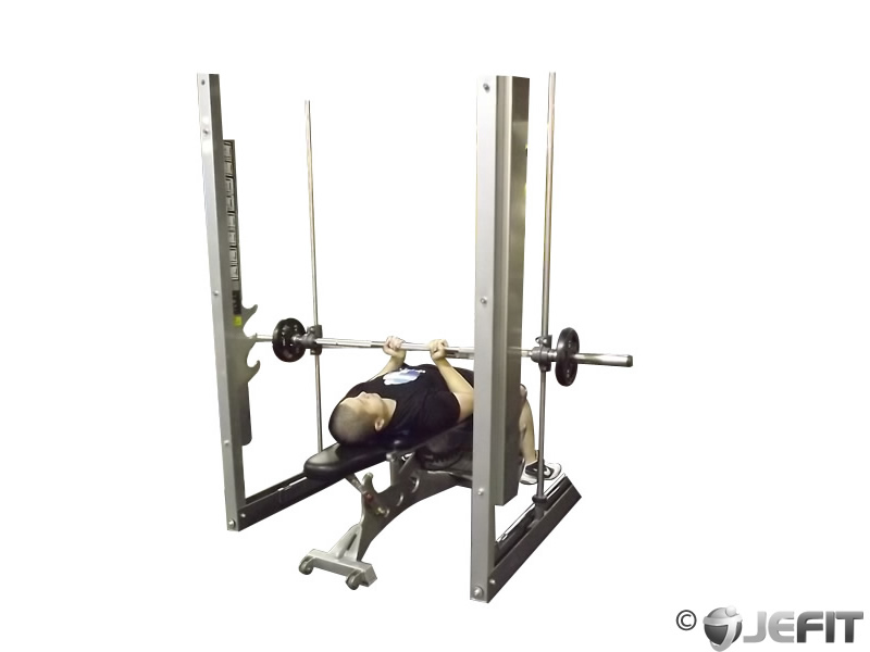 smith machine reverse close grip bench press exercise