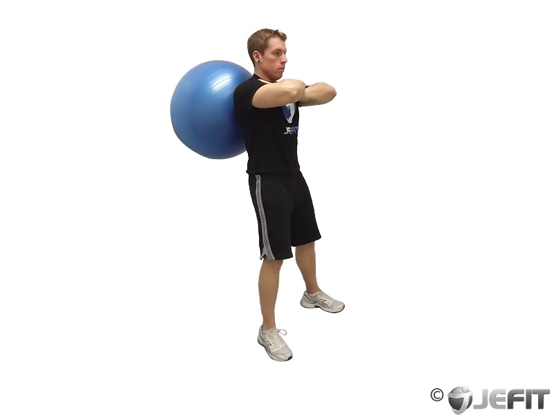 Exercise Ball Wall Squat