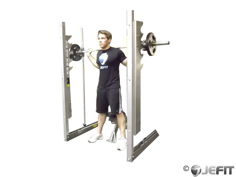 Smith Machine Squat to Bench