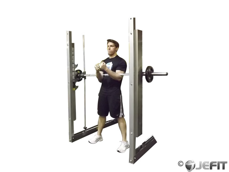 Smith Machine Zercher Squat