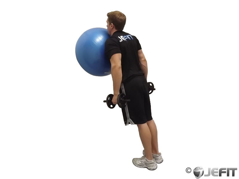 Exercise Ball on the Wall Calf Raise