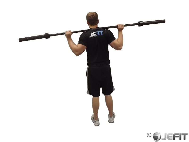 Floor Barbell Calf Raise