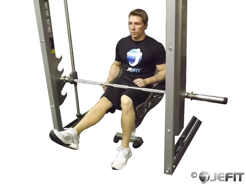 One Leg Smith Machine Seated Calf Raise