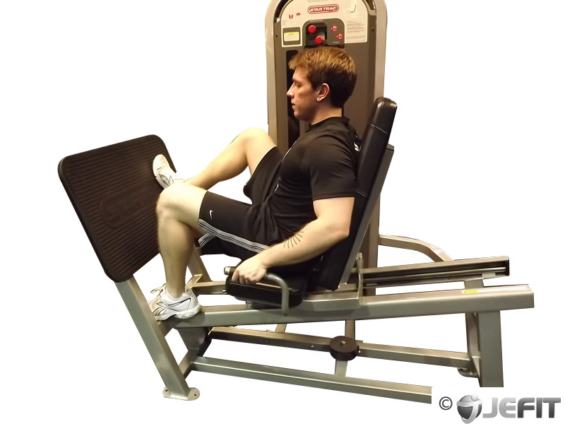 Leg Press Machine One Leg Press with Wide Stance - Exercise Database ...