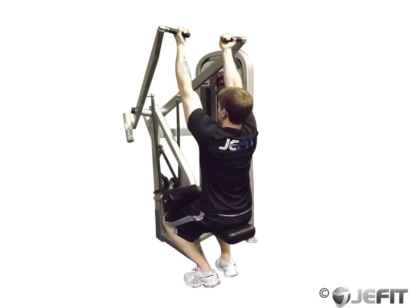 Reverse grip machine lat pull down exercise database for Floor underhand cable fly