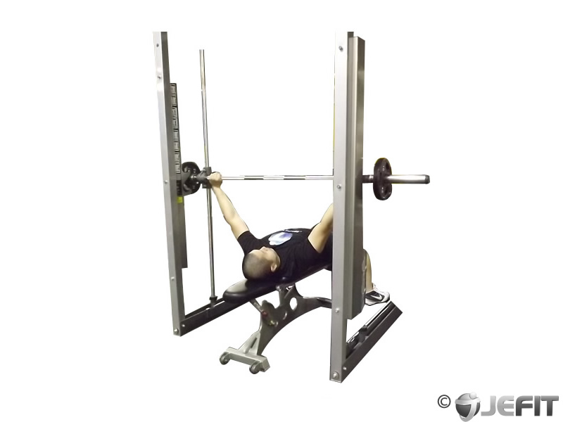 Smith Machine Wide Grip Bench Press