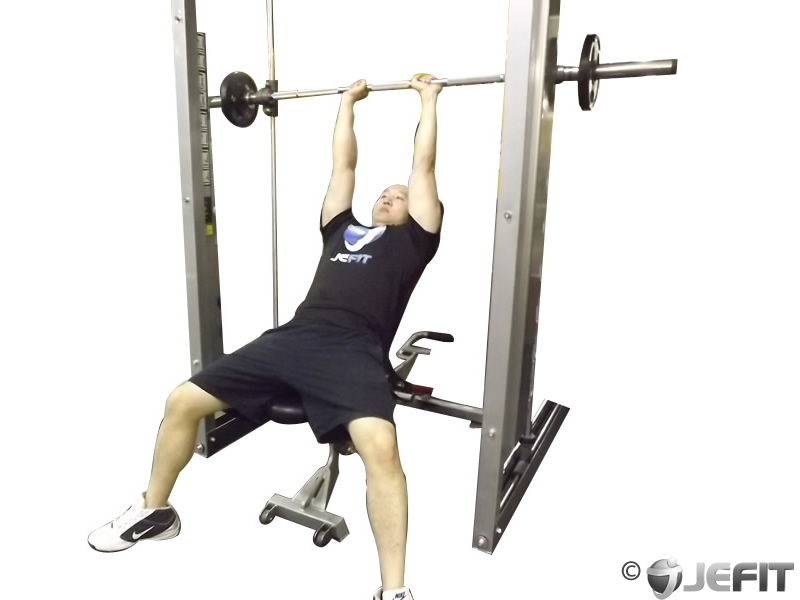 Smith Machine Close Grip Shoulder Press