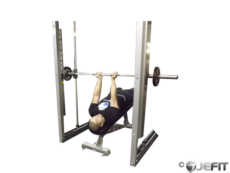 Smith machine reverse decline close grip bench press for Floor underhand cable fly