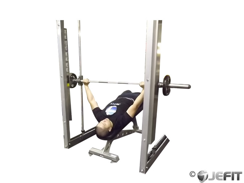Smith Machine Wide Grip Decline Bench Press