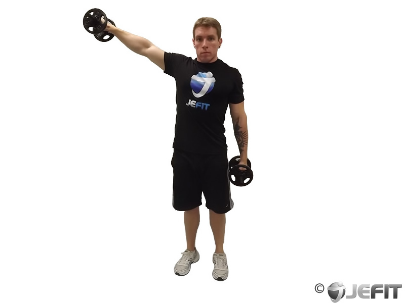 Alternate Standing Dumbbell Lateral Raise