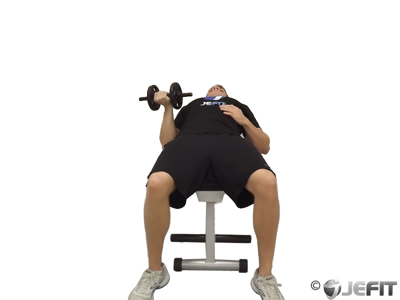 One Arm Reverse Grip Dumbbell Press