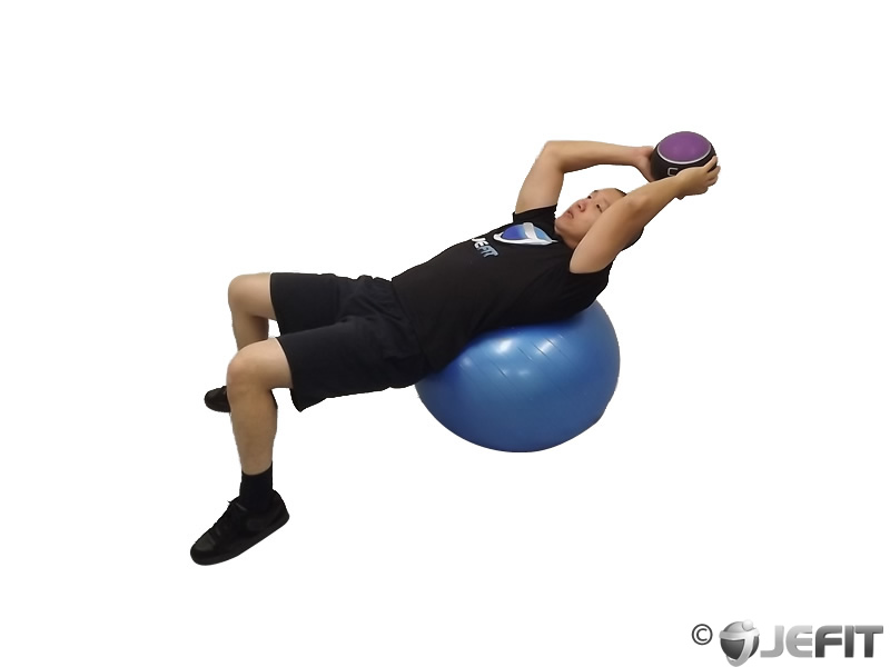 Medicine Ball Throw On Exercise Ball Exercise Database