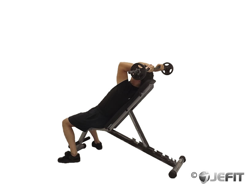 EZ Bar Incline Triceps Extension