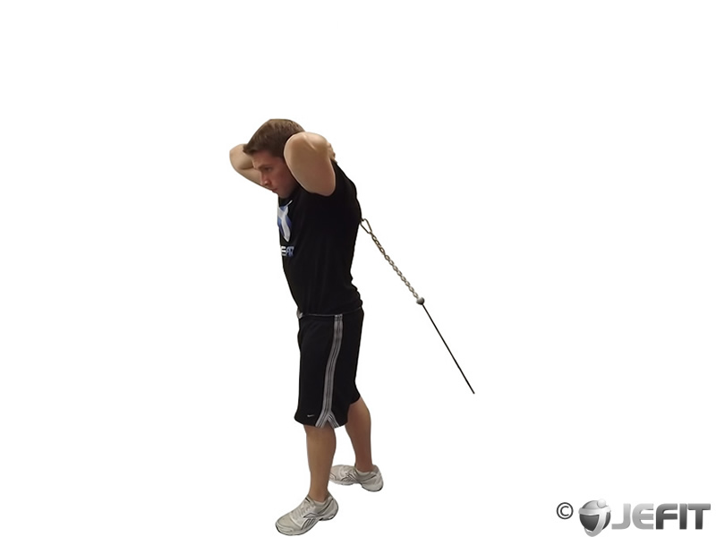 Cable Rope Overhead Triceps Extension - Exercise Database ...