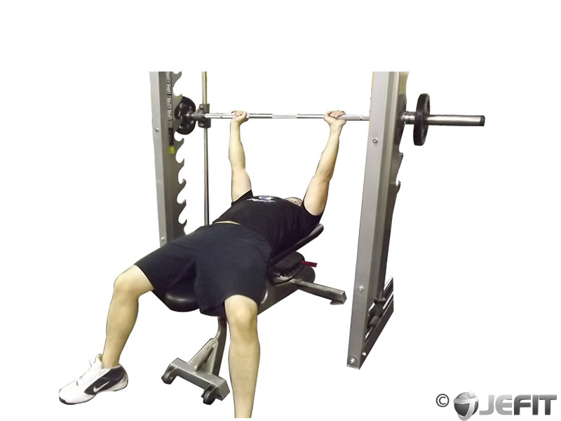 Smith Machine Bench Press Exercise Database Jefit Best Android And Iphone Workout Fitness