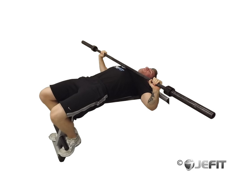 Barbell Wide Grip Decline Bench Press