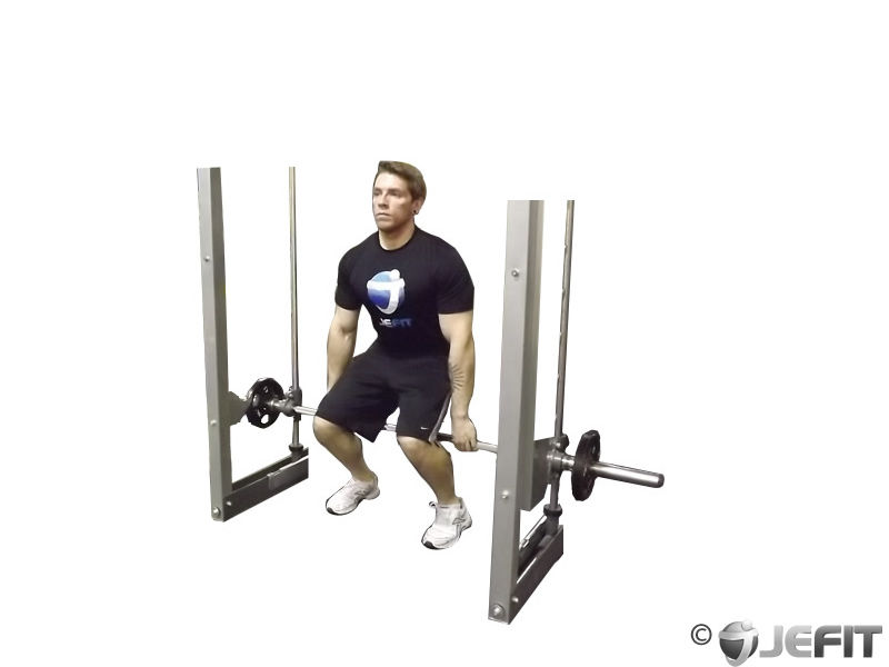 Hack squat smith machine
