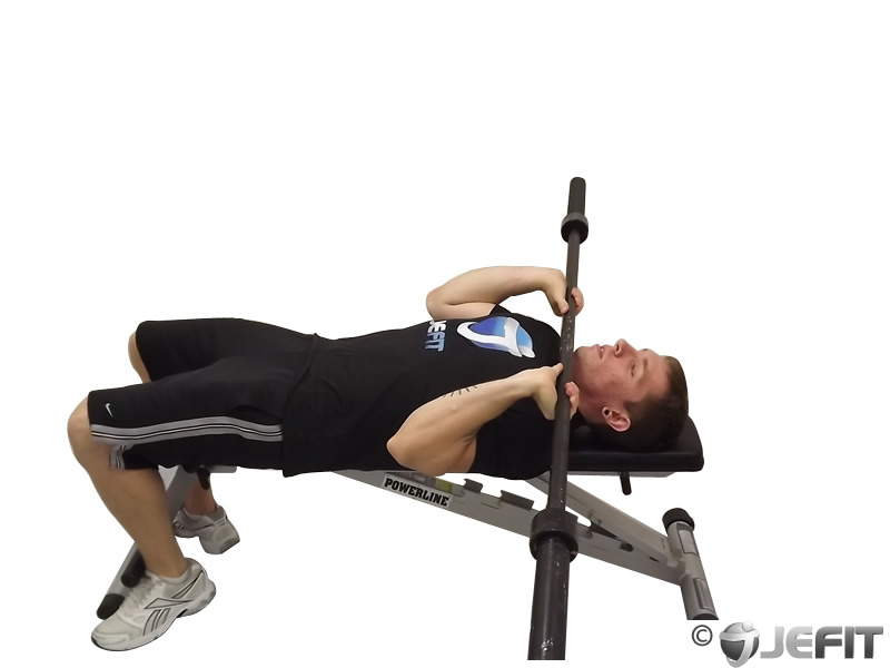 barbell lying triceps press exercise database jefit
