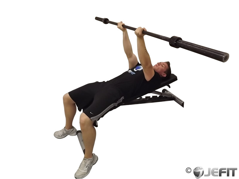 Barbell Reverse Triceps Bench Press