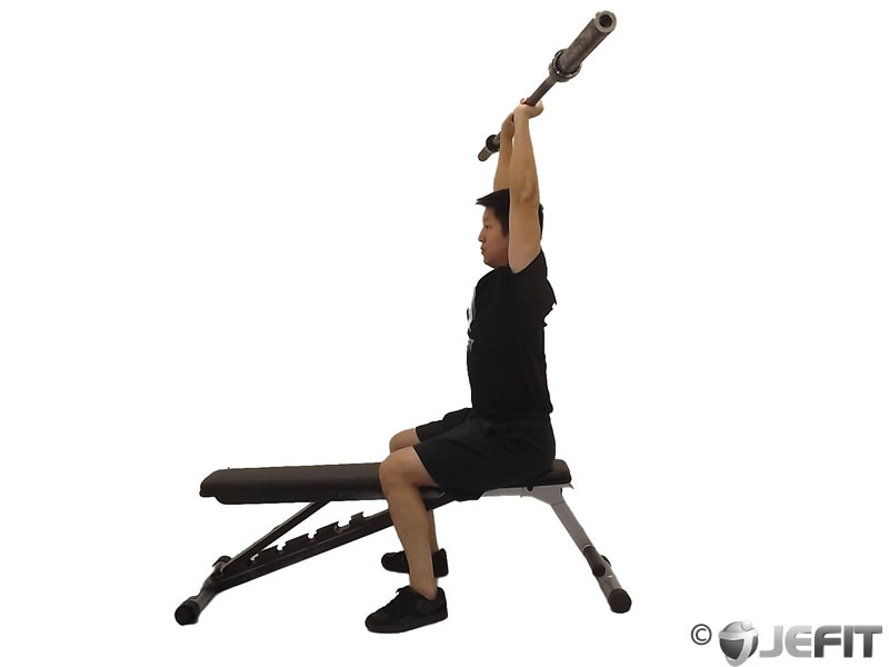 Barbell Seated Overhead Triceps ExtensionSeated Tricep Extension