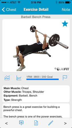 Gym exercises software