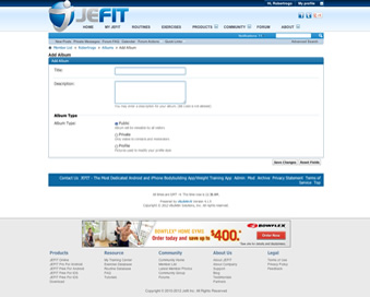how to delete photo from jefit