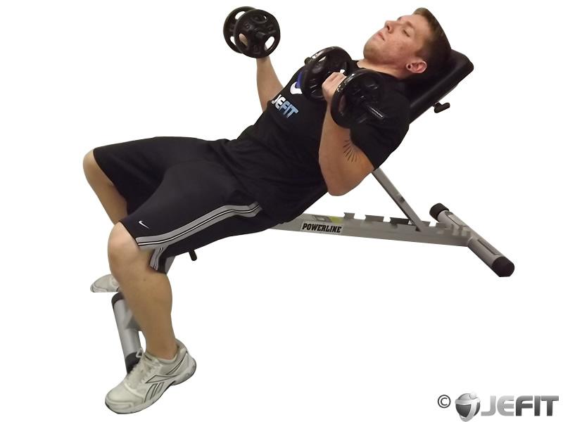 Dumbbell Flexor Incline Curl - Exercise Database | Jefit ...