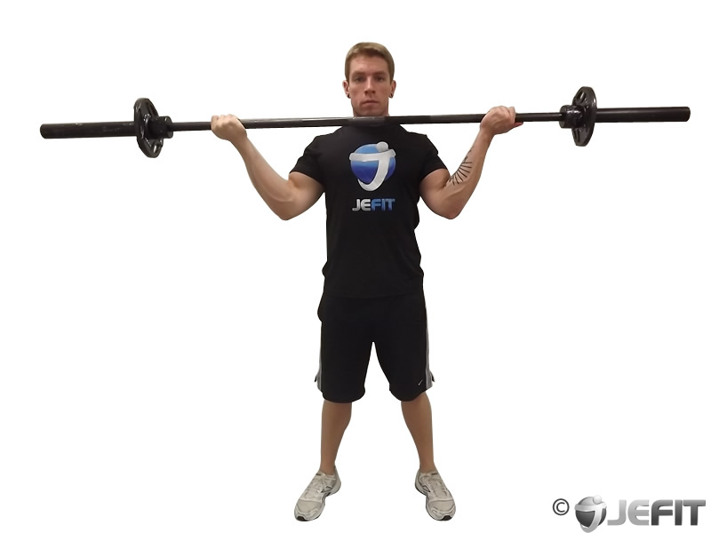 Barbell Standing Wide Grip Biceps Curl - Exercise Database ...