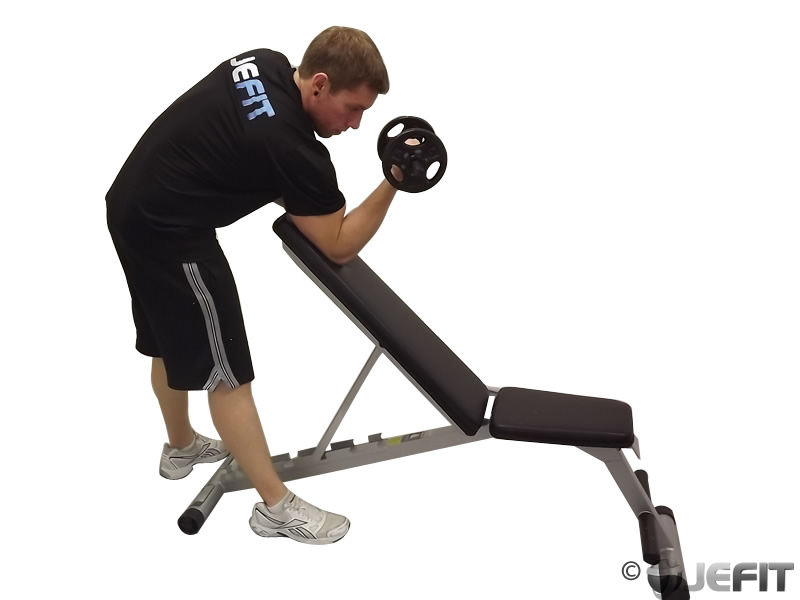 Dumbbell One Arm Zottman Preacher Curl - Exercise Database ...  Preacher