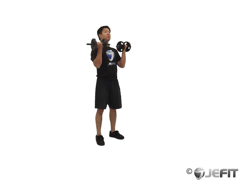 Dumbbell Bicep Curl Lunge with Bowling Motion