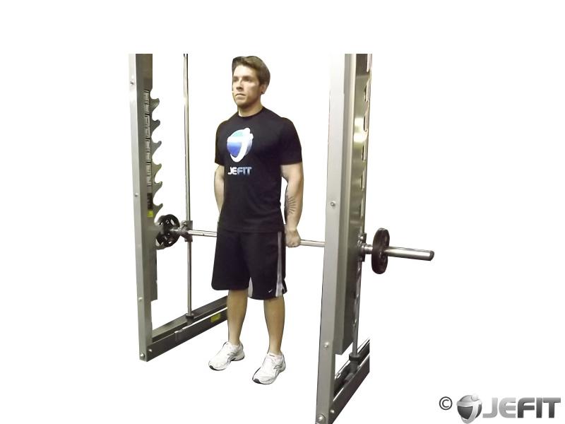standing calf raise smith machine