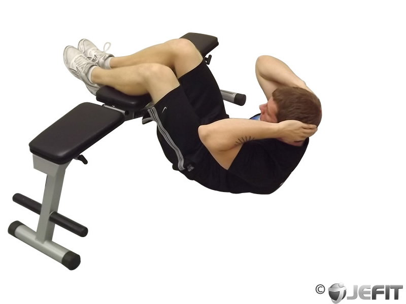 Crunches with legs on a bench exercise database jefit best android and iphone workout Abs bench