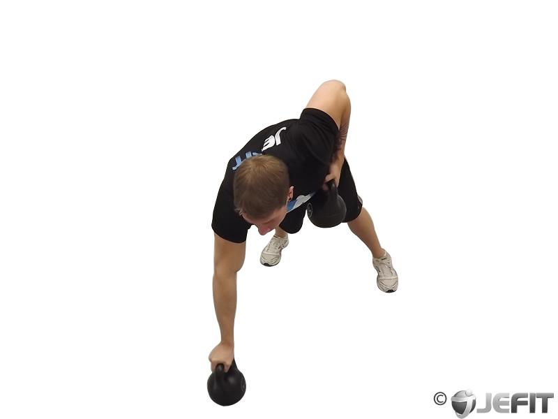 Kettlebell Alternating Renegade Row Exercise Database