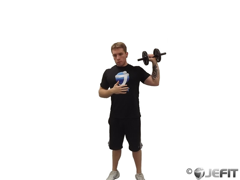 Dumbbell One Arm Shoulder Press Exercise Database Jefit Best