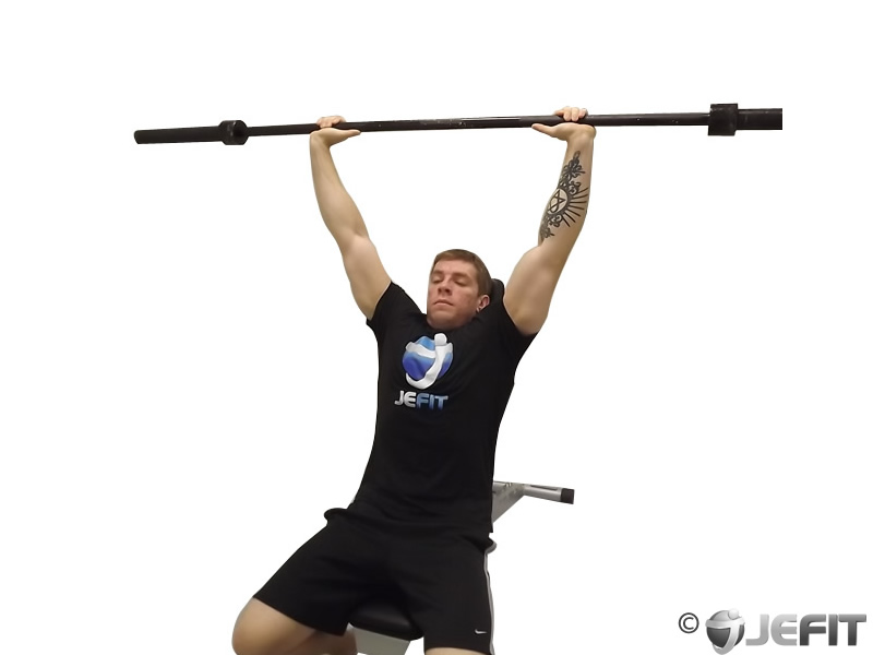 Barbell Incline Shoulder Raise Exercise Database Jefit