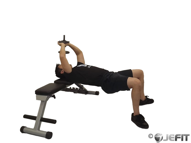 Dumbbell Bent Arm Pullover - Exercise Database | Jefit - Best ...