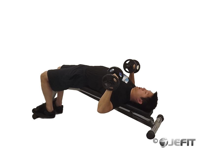 dumbbell decline bench press exercise database jefit