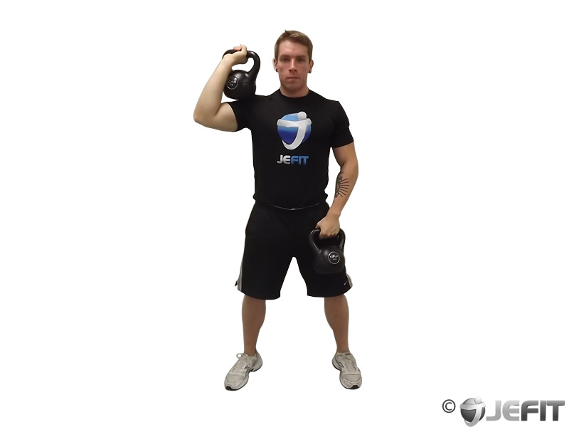 Kettlebell Double Alternating Hang Clean