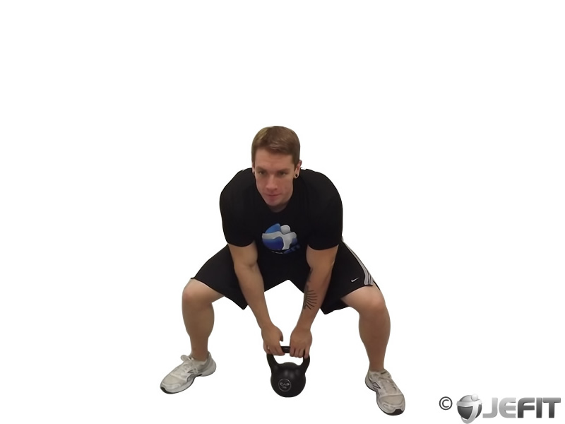 Kettlebell Sumo High Press