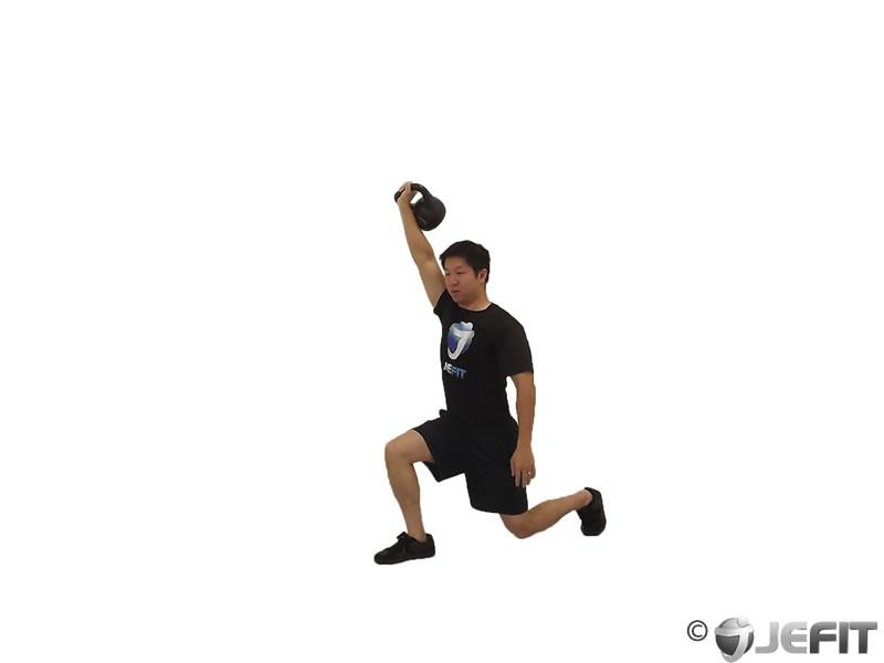 Kettlebell Turkish Get Up Lunge Exercise Database