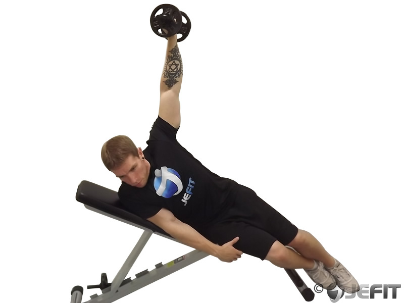 Dumbbell One Arm Incline Lateral Raise - Exercise Database ...