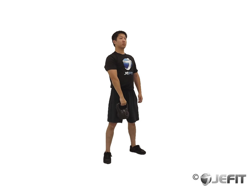 Kettlebell One Arm Split Snatch