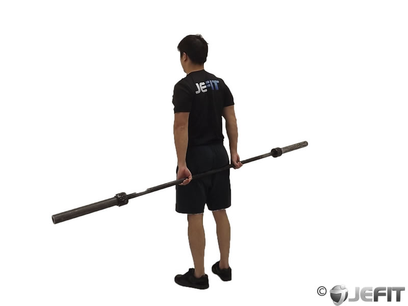 Barbell Round The World Shoulder Stretch