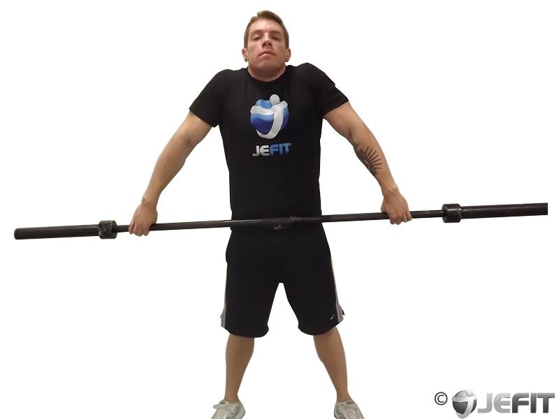 Barbell Snatch Shrug Exercise Database Jefit Best
