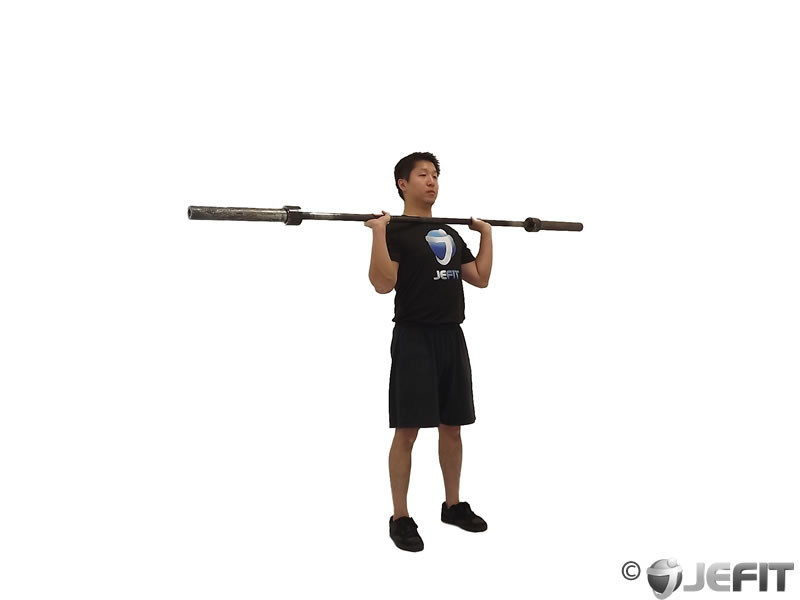 Barbell Standing Military Press