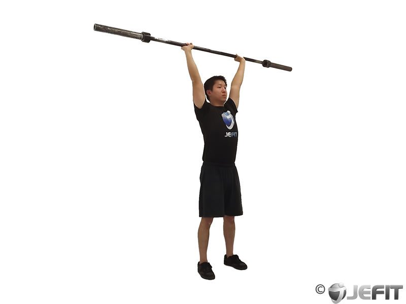 Barbell Standing Military Press Exercise Database