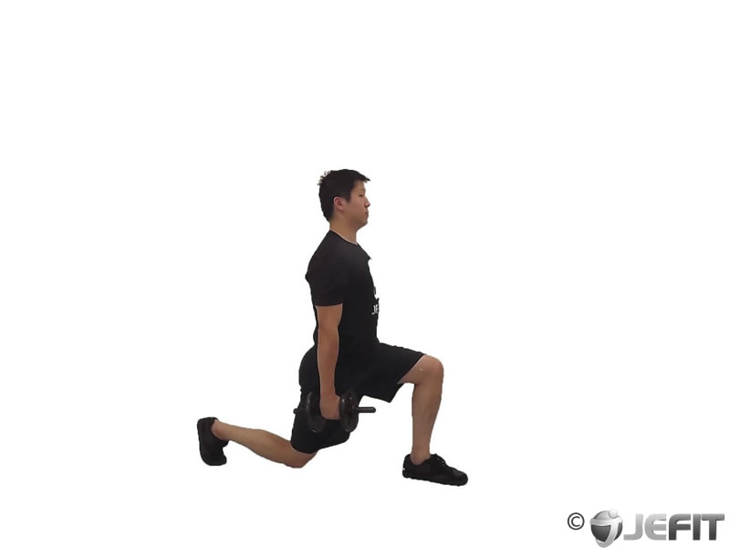 Dumbbell Rear Hamstring Lunge