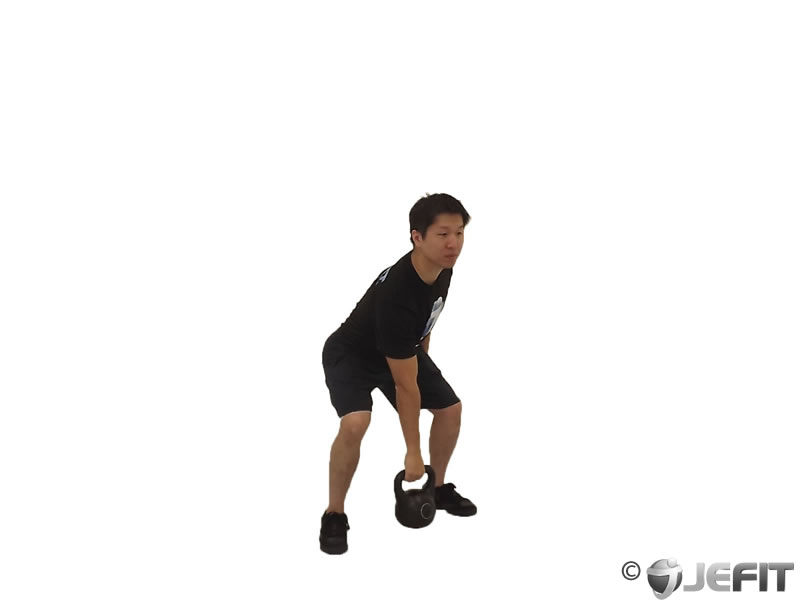 Kettlebell One Arm Palm Clean